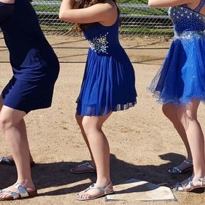 Short Blue Prom/Homecoming Dress